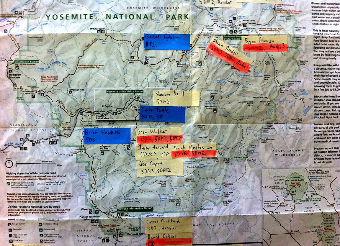Yosemite Steve – Yosemite Tourist Map
